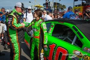 Danica Patrick, Stewart-Haas Racing Chevrolet with crew chief Tony Gibson