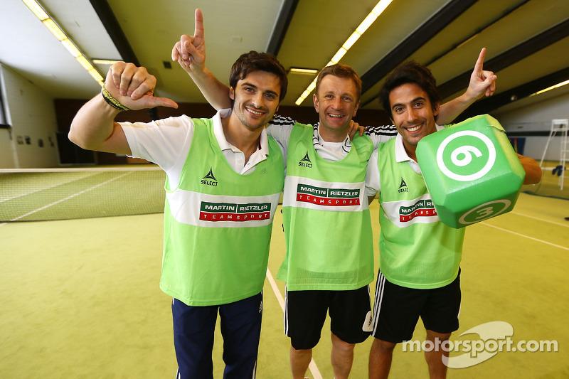 Аллан МакНиш, Марко Бонаноми и Филипе Альбукерк. Зимний лагерь Audi, особое событие.