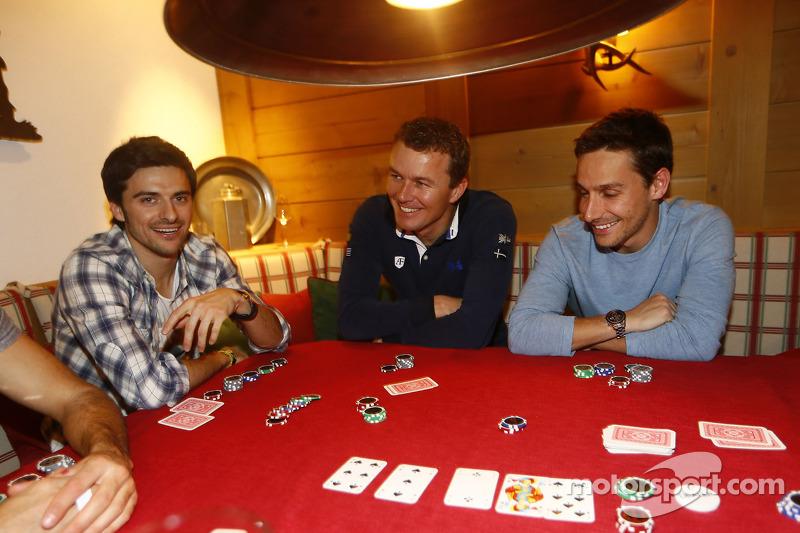 Марсель Фэсслер, Марко Бонаноми и Филипе Альбукерк. Зимний лагерь Audi, особое событие.