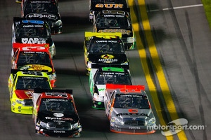 Kyle Busch and Todd Bodine lead the field