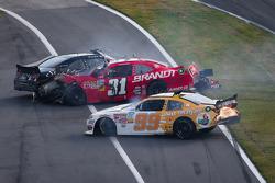 Last lap crash: Alex Bowman, Justin Allgaier and Brian Scott crash