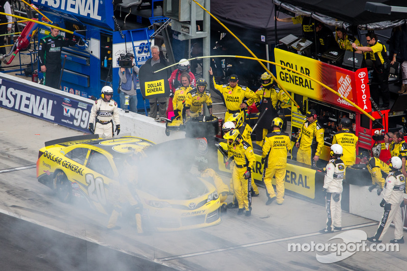 Opgeblazen motor voor Matt Kenseth, Joe Gibbs Racing Toyota