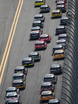 Restart: Danica Patrick and Elliott Sadler lead the field