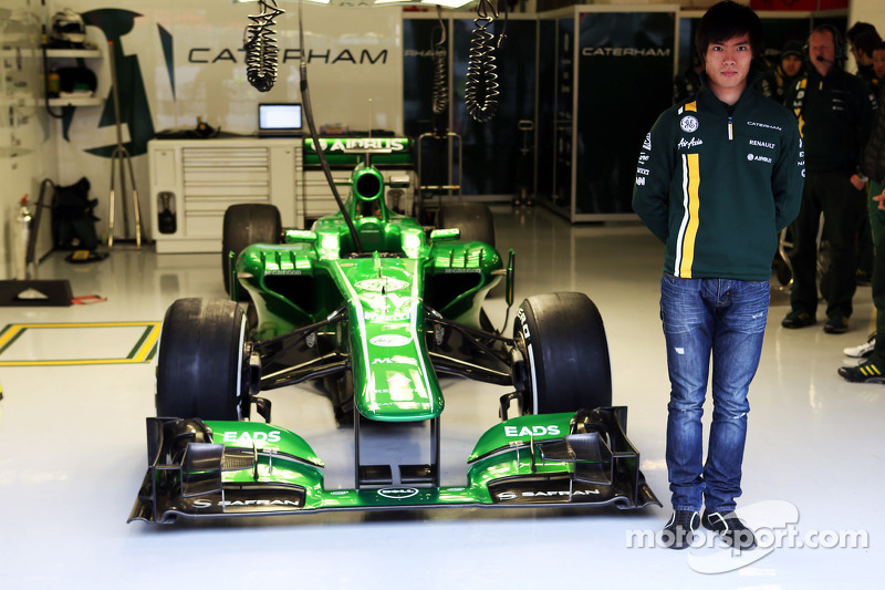 Ma Qing Hua, Caterham F1 reserve driver announcement