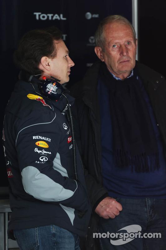 Christian Horner, Chefe de equipe da Red Bull Racing, com o Dr. Helmut Marko, Consultor da Red Bull