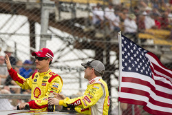 Joey Logano and Bobby Labonte
