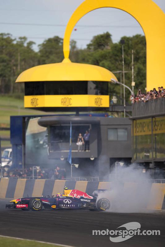 Mark Webber in de Red Bull F1