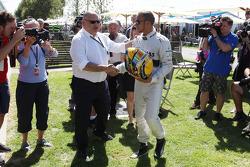Lewis Hamilton, Mercedes AMG F1 and Pat Behar, FIA