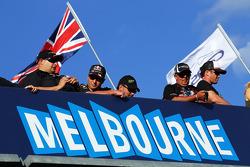 Fãs acima do sinal Melbourne