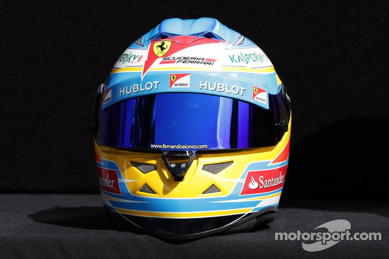 Casco de Fernando Alonso en 2013