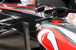McLaren MP4-28 sidepod detail