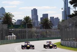 Sebastian Vettel, Red Bull Racing RB9 and team mate Mark Webber, Red Bull Racing RB9