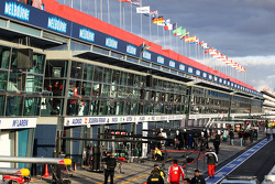 The pits after the race has finished