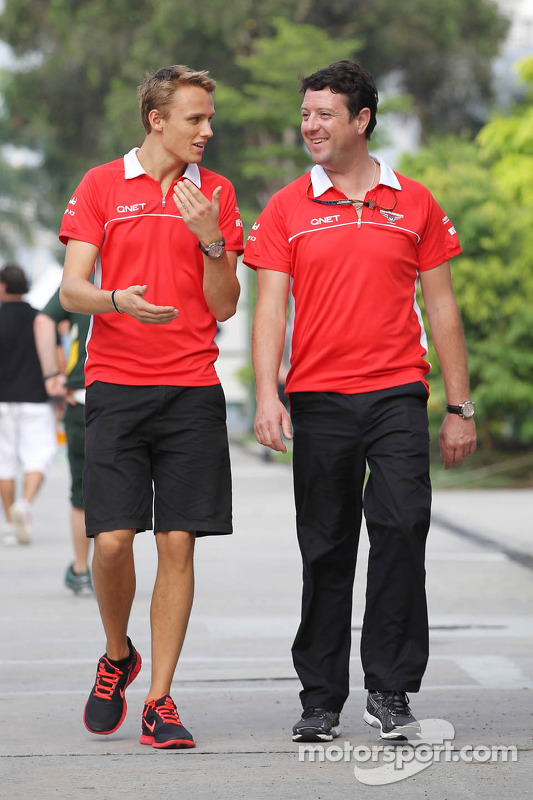 Max Chilton, Marussia F1 Team com Dave ONeill, Marussia F1 Team Manager