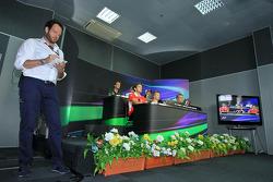 Matteo Bonciani, FIA Media Delegate at the FIA press conference