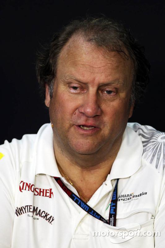 Bob Fernley, Sahara Force India F1 Team, Co-Chefe de equipe na Conferência de Imprensa da FIA