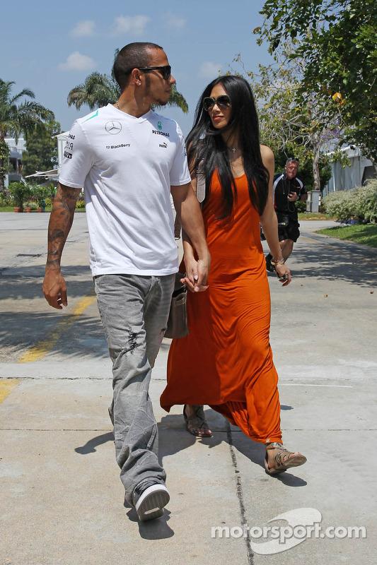 Nicole Scherzinger e Lewis Hamilton