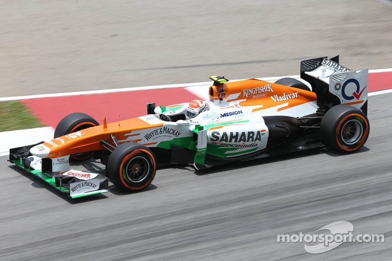 2013: Force India VJM06 Mercedes (одно четвертое место, 6-е место в КК)
