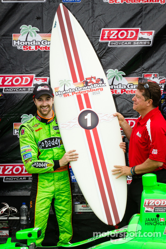 pódio: vencedor James Hinchcliffe, Andretti AutoSport Chevrolet