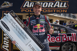 Jamie Whincup, Red Bull Holden celebrates his pole position