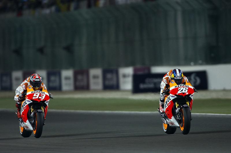 Дани Педроса и Марк Маркес. ГП Катара, воскресная гонка.