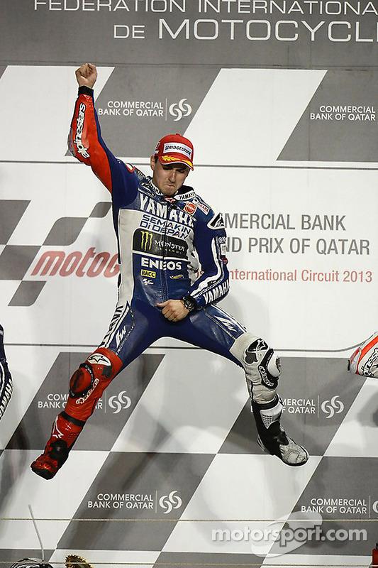 pódio: vencedor Jorge Lorenzo, Yamaha Fatory Racing