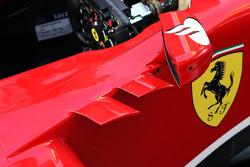 Ferrari F138 detalhe do cockpit
