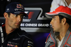 Mark Webber, Red Bull Racing et Sergio Perez, McLaren