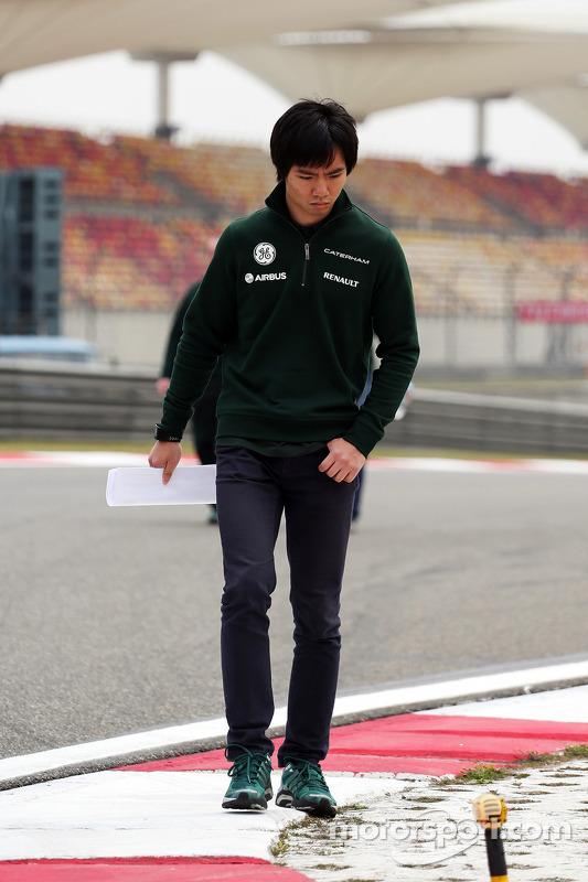 Ma Qing Hua, Caterham F1 piloto reserva anda pelo circuito