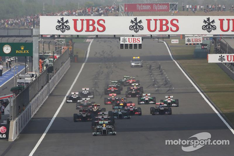 Льюис Хэмилтон. ГП Китая, Воскресная гонка.