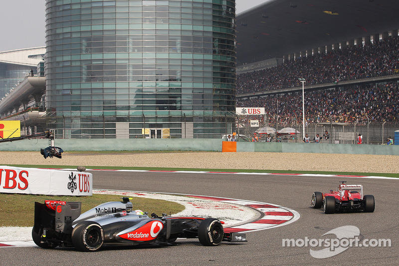 Фернандо Алонсо. ГП Китая, Воскресная гонка.