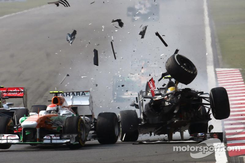 Эстебан Гутьеррес. ГП Китая, Воскресная гонка.