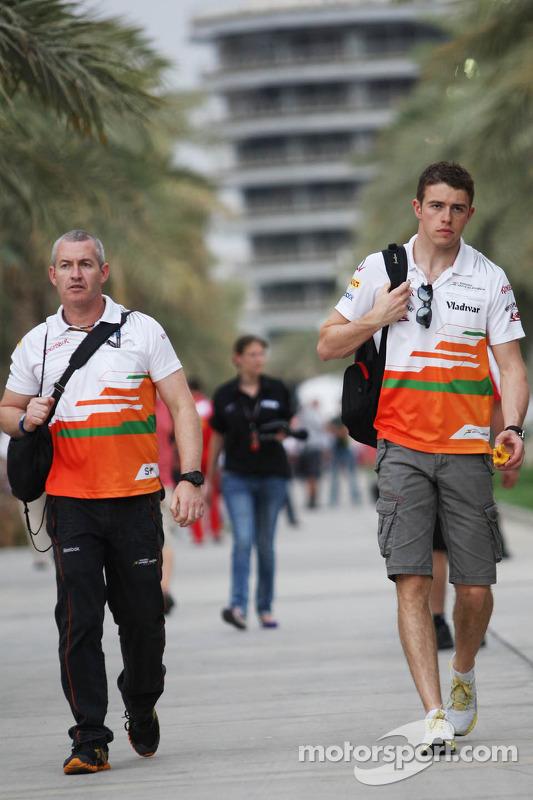 Paul di Resta, Sahara Force India F1 com Gerry Convy, Personal Trainer