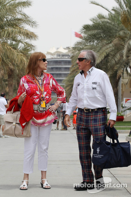 Jackie Stewart, with his wife Helen Stewart