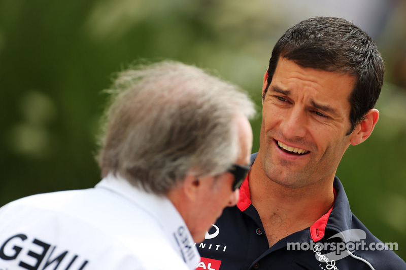 Mark Webber, Red Bull Racing with Jackie Stewart