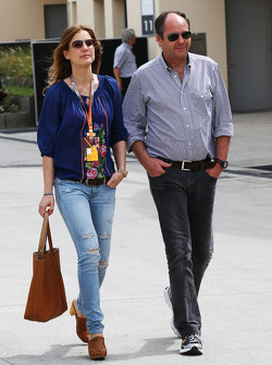 Gerhard Berger, with his girlfriend Helene
