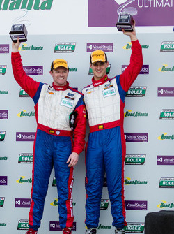 GT podium: winners John Edwards and Robin Liddell