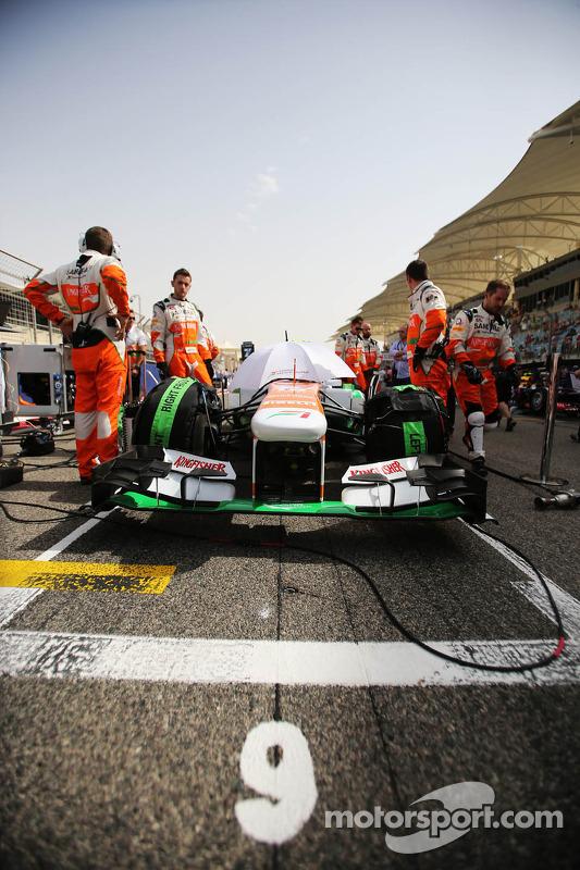 Sahara Force India F1 VJM06 de Adrian Sutil, Sahara Force India F1 no grid