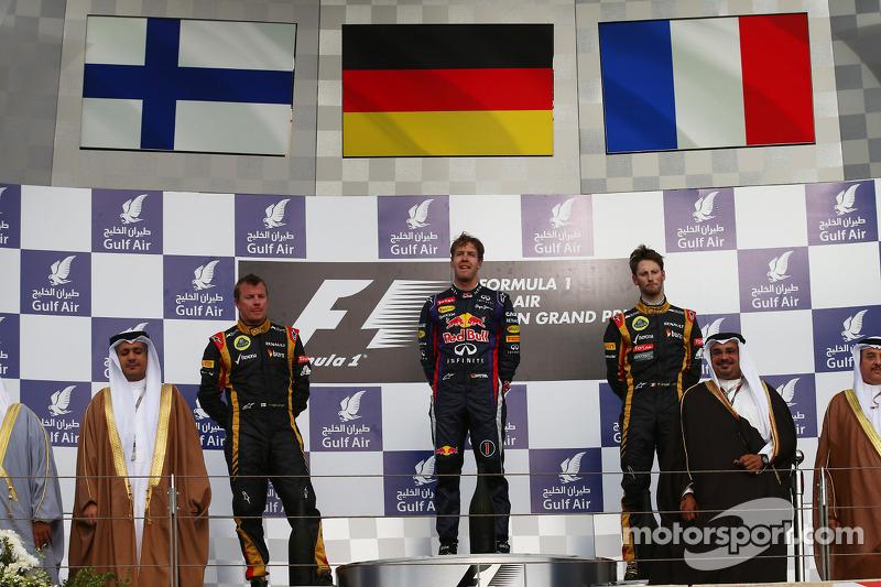 2013 - 1. Sebastian Vettel 2. Kimi Räikkönen 3. Romain Grosjean