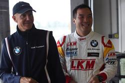 Darryl O'Young, BMW E90 320 TC, ROAL Motorsport  and Aldo Preo, Team owner, ROAL Motorsport