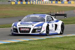 #42 Team Saintéloc Racing BR Performance Audi R8 LMS Ultra: David Halliday, Grégory Guilvert