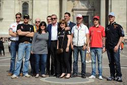 (L naar R) Tom Chilton, Chevrolet Cruze 1.6 T, RML, Robert Huff, SEAT Leon WTCC, ALL-INKL.COM Münnich Motorsport, Norbert Michelisz, Honda Civic, Zengo Motorsport, Marcello Lotti, Honda Civic Super 2000 TC, Honda Racing Team Jas, Mikhail Kozlovskiy, LADA Gr