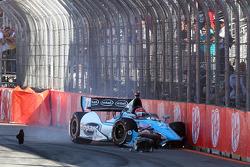 Trouble for Simon Pagenaud, Schmidt Peterson Motorsport Honda
