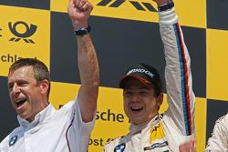 Podium, Bart Mampaey, BMW Team RBM and Augusto Farfus, BMW Team RBM BMW M3 DTM