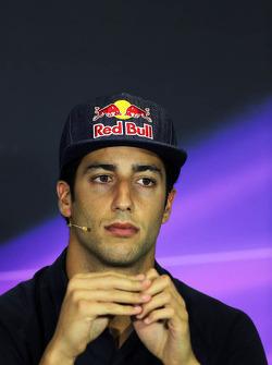 Daniel Ricciardo, Scuderia Toro Rosso in the FIA Press Conference