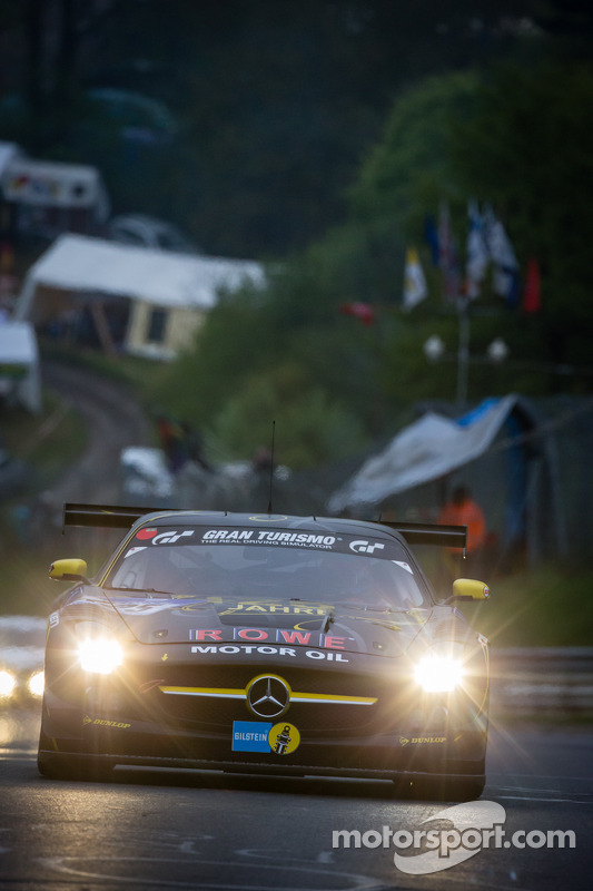 #125 Rowe Racing Mercedes-Benz SLS AMG GT3 (SP9): Michael Zehe, Marko Hartung, Reinhold Renger, Mark