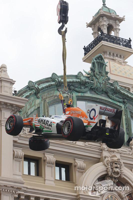 Adrian Sutil, Sahara Force India VJM06, bate na terceira prática livre