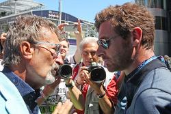 (L naar R): Eddie Jordan, BBC-expert met Andre Villas-Boas, Tottenham Hotspur Manager