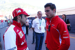 (L to R): Felipe Massa, Ferrari with Jules Bianchi, Marussia F1 Team