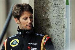 (L naar R): Eric Boullier, Teambaas Lotus F1 met Romain Grosjean, Lotus F1 Team